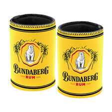 Bundaberg Rum Stubby Cooler Can Cooler - Gold - Set Of Two