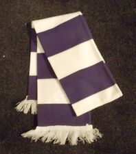PURPLE AND WHITE BAR SCARF