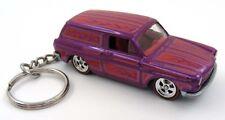 Custom 69 Volkswagen Squareback Purple Key Chain Ring Fob Keychain