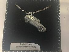"Golf Gti Mk1 ref299 Car Emblem on Silver Platinum Plated Necklace 18"""