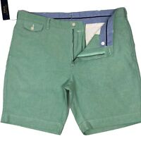 "Ralph Lauren Chino Shorts Oxford Chino Harbor Green Classic Fit size 40"" Genuine"