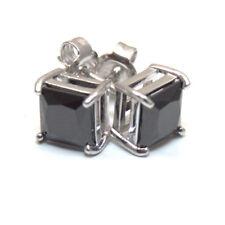 Diamond-unique Princess Cut 2.5ct Diamond Studs Sterling Silver