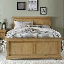 Bordeaux solid oak furniture 5' king size bed
