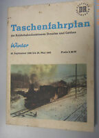 Fahrplan Reichsbahndirektionen Dresden und Cottbus 1980/1981 selten