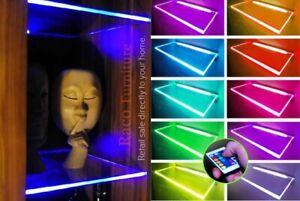 RGB Remote Control LED Light Glass Shelf Clips Set