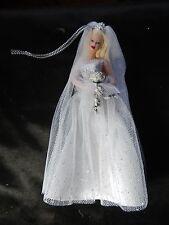 NIB Avon Ornament Barbie Millennium Bride Porcelain Ornament Avon Exclusive Cert