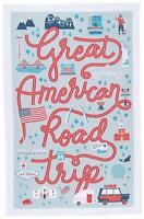 Now Designs Cotton Kitchen Towel, American Road Trip Print