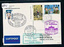66802) LH SF Berlin - Zürich Schweiz 6.4.2001, Br.Tor, card Jersey scout 2