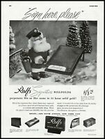 1947 Rolfs billfolds Christmas gifts Santa trees vintage photo print Ad adL54