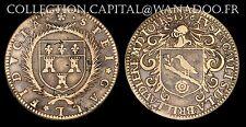 Jeton Noblesse et VillesTouraine Eustache Gault Maire de Tours 1596 laiton F8309
