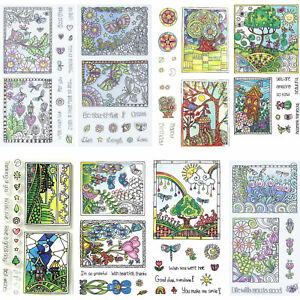 Hampton Art Coloring (Color Me) Clear Stamps Mix-n-Match