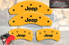 "2015-2017 ""Jeep"" Renegade Front + Rear Yellow MGP Brake Disc Caliper Covers 4pc"