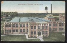 POSTCARD FLINT MI/MICHIGAN WESTON MOTT FACTORY PLANT BUILDING BIRD'S EYE 1907