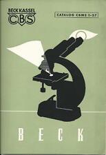 1957 Beck Kassel Catalog & Price List  Microscopes & Stereoscopes