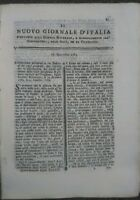 1783 RIVISTA NUOVO GIORNALE D'ITALIA: MINIERE DELLA FRANCIA MERIDIONALE VIVARAIS