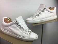 578521ce8 Balenciaga Arena Tumbled Leather White Low-Top Sneakers - Size 41 (US8)
