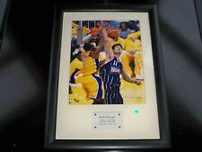 Kobe BRYANT 2003 UPPER DECK Authentic Matted & Framed DUNK / YAO MING #ed 70/108