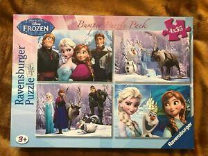 Ravensburger Disney Frozen 4 x 35 puzzles Brand New - Charity Sale #cj