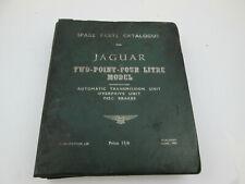 Vintage June 1959 Jaguar Two Point Four Litre Spare Parts Catalogue