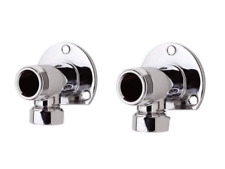 SHOWER BAR VALVE TAP EXTERNAL PIPE WORK WALL MOUNT BACKPLATE ELBOWS CHROME