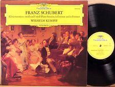 DGG GERMANY Schubert WILHELM KEMPFF Piano Sonatas D.566 & D.625 GERMANY 2530 354