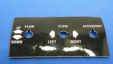 Curtis ,Curtis Snow Plow,Finger Tip Control Panel Sticker,Lot of 1