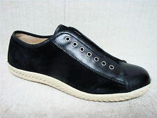 JOHN VARVATOS - F2591R - Men's Black Leather & Suede Casual Sneakers - Size 11 M