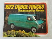 VINTAGE 1972 Dodge Trucks Tradesman Van Models Brochure