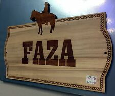 Custom Large Horse Name Plate Stall Barn Personalized Wood Rope Sign