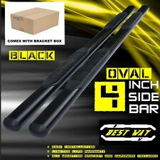 4 inch OVAL BLK Nerf Bars Side Steps For 15-17 FORD F150 CREW CAB