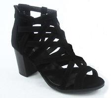 NEW Open toe Gladiator High Heel Sandal Strappy Ankle Block Wedge Platform Shoe