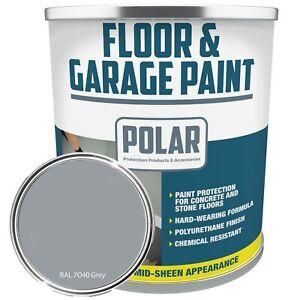 Polar Heavy Duty Grey Concrete Garage & Industrial Floor Paint 5 Litre