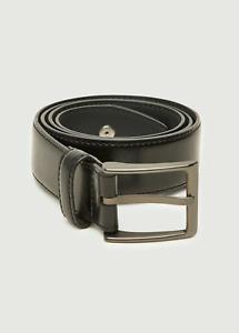 Peter Werth New Mens Sherry Leather Belt - Black