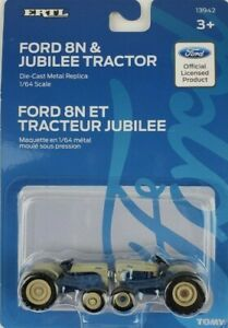 ERTL 1/64th Ford 8N & Jubilee tractor set