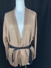 $1445 New Brunello Cucinelli Womens Brown Sweater Top Size Medium M 42 6