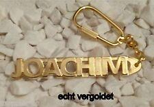 EDLER SCHLÜSSELANHÄNGER JOACHIM VERGOLDET GOLD NAME KEYCHAIN WEIHNACHTSGESCHENK