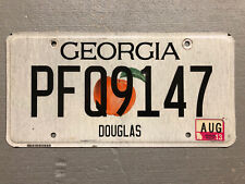 ONE GEORGIA LICENSE PLATE PEACH STATE 🍑 RANDOM LETTERS/NUMBERS FAIR/GOOD