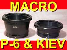 MACRO EXTENSION Russian TUBES RINGS for Pentacon-six Kiev-6S Kiev-60 88cm camera