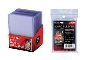 UltraPro Card Sleeves x100 and Top Loader Regular x25 BUNDLE PACK