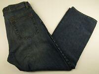 Mens Gene Meyer 34x30 Medium Blue 100% Cotton Button Fly Relaxed Fit Denim Jeans