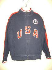 POLO RALPH LAUREN  BOYS USA OLYMPIC TEAM JACKET SWEATER size 7 BLUE 100% COTTON