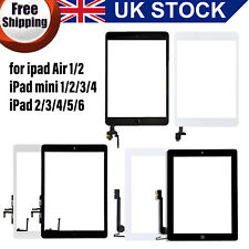 For iPad 2/3/4/5/6 Mini 1/2/3/4 Air 1/2 Screen Replacement Glass Touch Digitizer