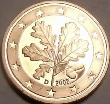 GERMANY 1 Euro Cent, 2002, Oak Leaves, UNC World Coin