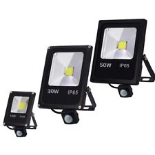 LED Floodlight Motion Sensor 220V 50W 30W 10W Outdoor Waterproof Reflector Lamp