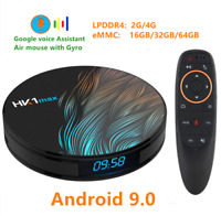 Smart TV BOX Android 9.0 TV  Google Assistant RK3328 4G 64G Wifi Media player Pl