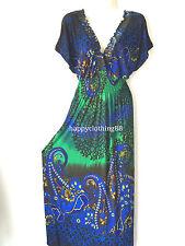 48379450536 Women Long Maxi Summer Beach Hawaiian Boho Evening Floral Sundress PLUS SIZE