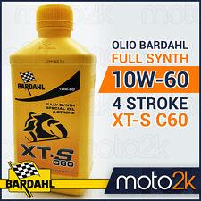 OLIO BARDAHL 100% SINTETICO 10W-60 10W60 4 STROKE XT-S XTS C60 - 4 LITRI