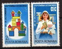 RUMANIA / ROMANIA año 1982 yvert nr. 3410/11 nueva semana económica CEC