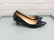John Lewis Navy Kitten Heel Bow Shoes