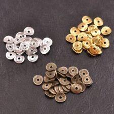 100PCS Tibetan Silver/Gold/Bronze Wavy Charm DIY Spacer Beads for Bracelet Hot